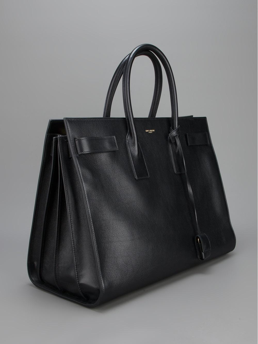 yves saint laurent leather sac garconne