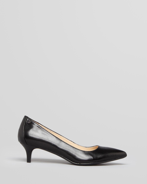 944452fd62a Lyst - Calvin Klein Pointed Toe Pumps Nicki Kitten Heel in Black
