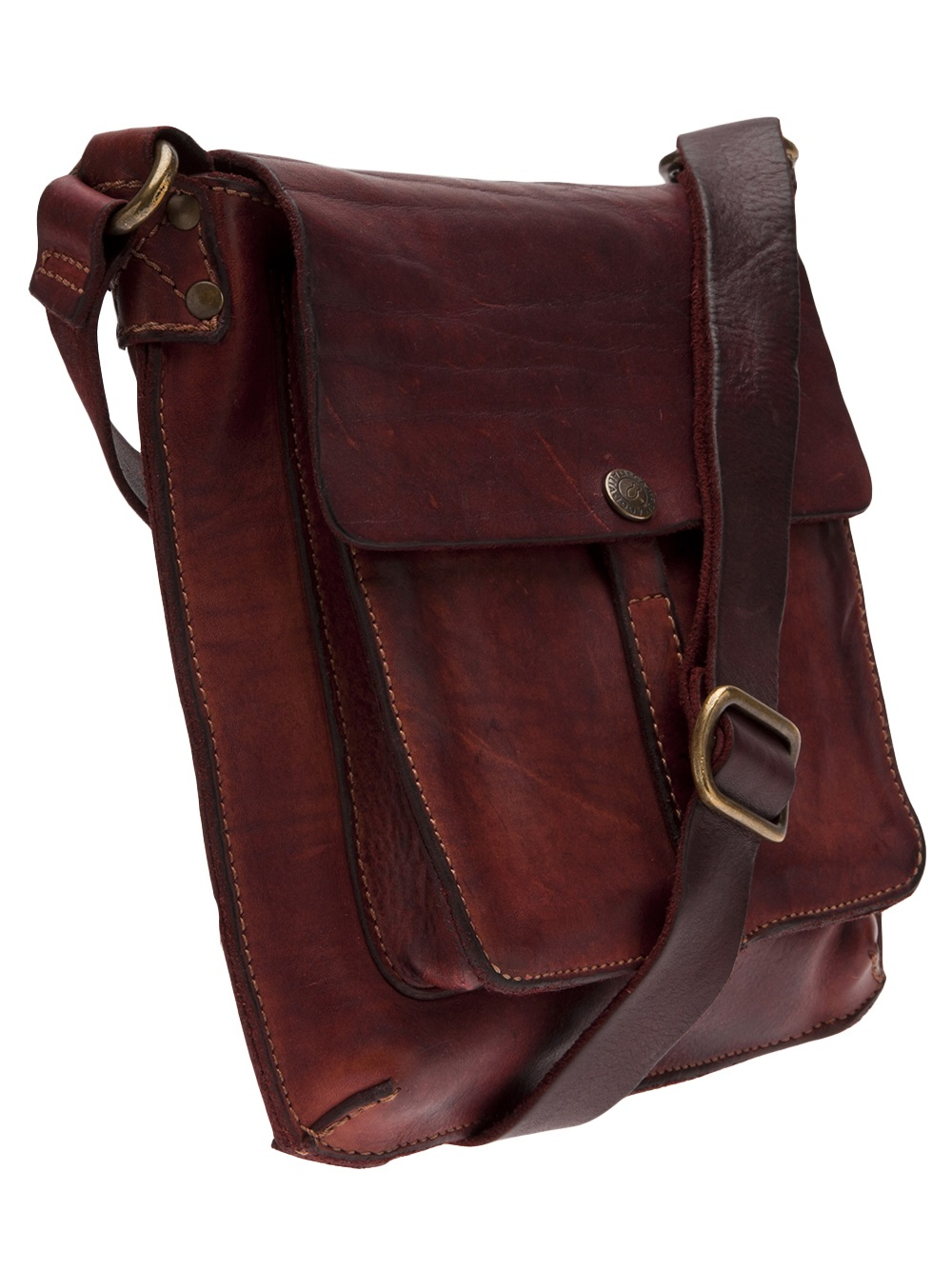Campomaggi Small Square Shoulder Bag in Red | Lyst
