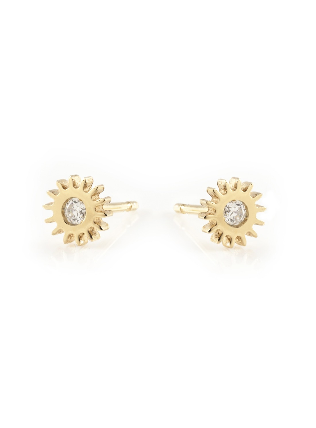 Lyst - Clarice Price Thomas Gold Small Cog Stud Earrings with ...