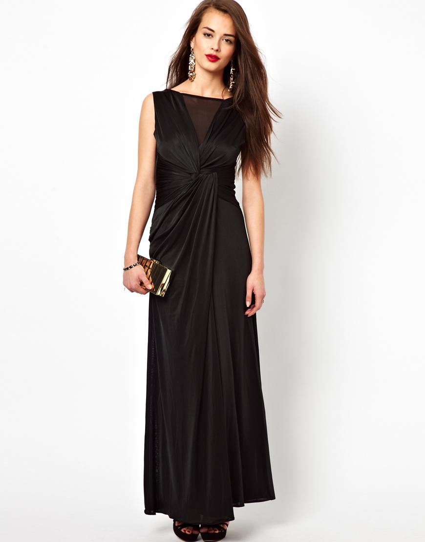 Lyst Little Mistress Maxi Dress In Black