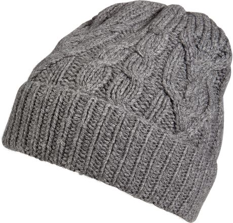Knitting Pattern Cashmere Hat : Paul Smith Cashmere Cable Knit Hat in Gray for Men (grey) Lyst
