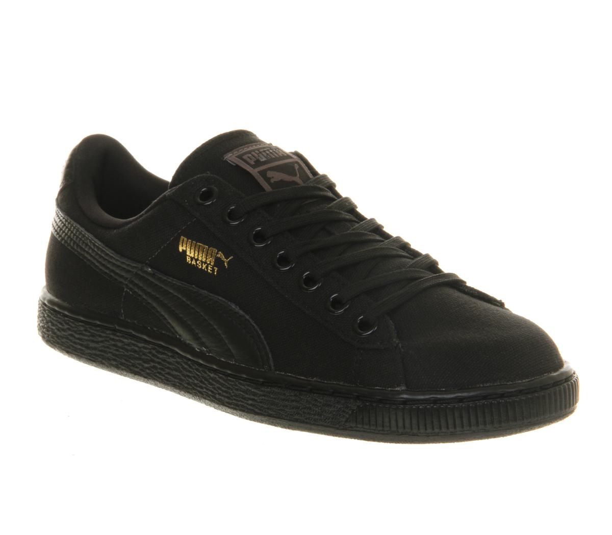 Puma Basket Black Suede