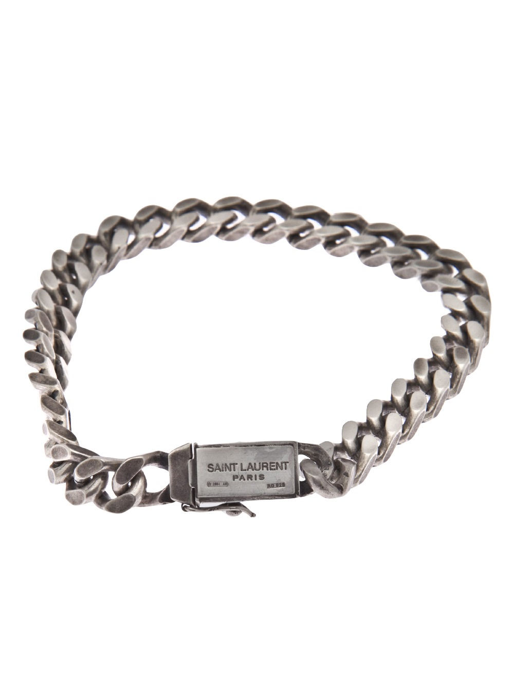 Saint Laurent Skull Bracelet In Metallic For Men Lyst