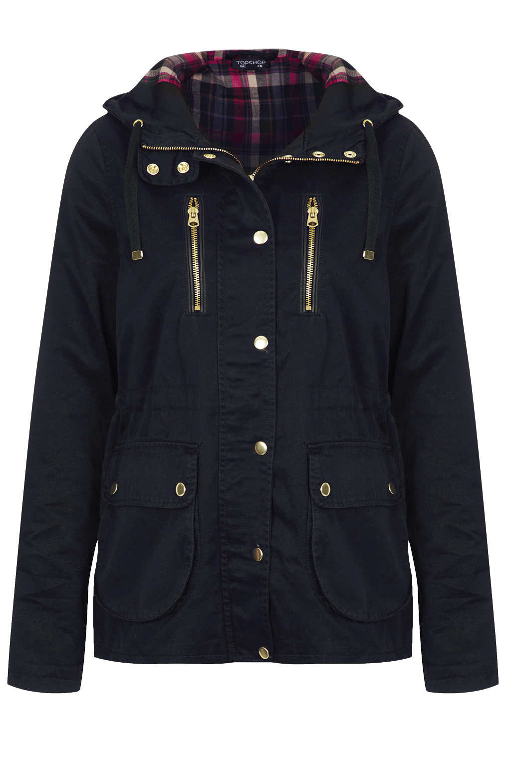 Topshop Hooded Lightweight Jacket in Blue | Lyst