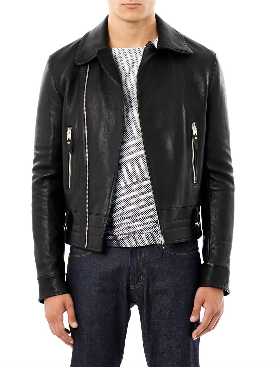 Balenciaga leather motorcycle jacket