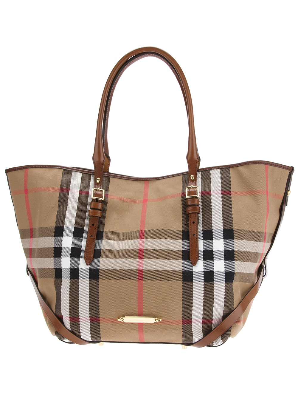 1129e83f70c4 Lyst - Burberry Medium Bridle House Tote Bag in Brown