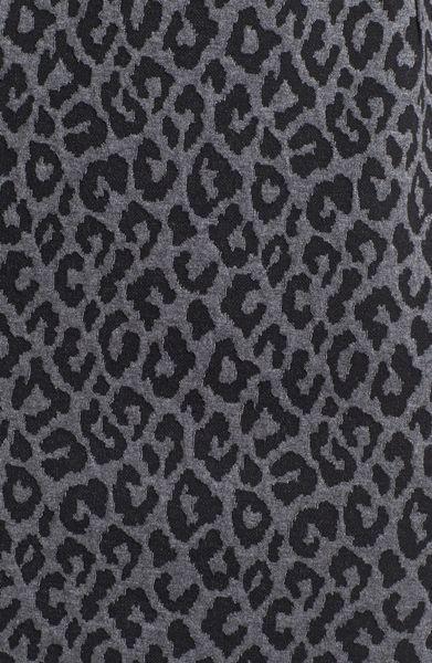 Calvin Klein Animal Print Cap Sleeve Ponte Sheath Dress in Gray ...