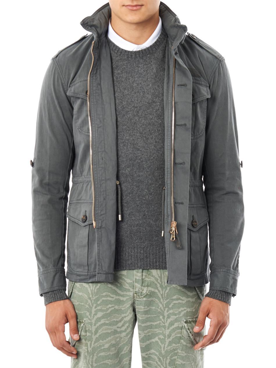 Michael bastian Four Pocket Military Jacket in Gray for Men | Lyst