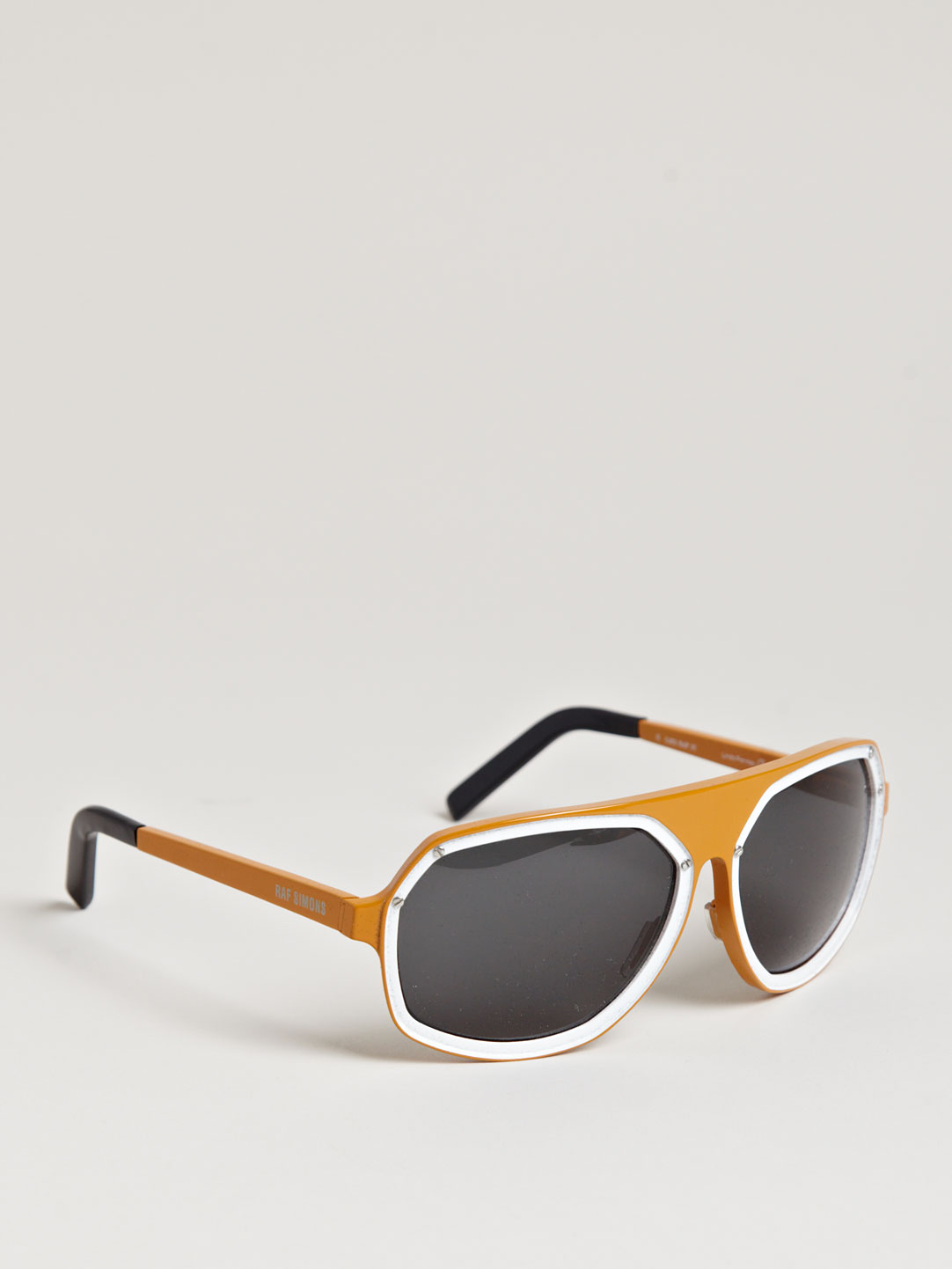 f05ba18c8a Raf Simons X Linda Farrow Metal Sunglasses in Orange for Men - Lyst