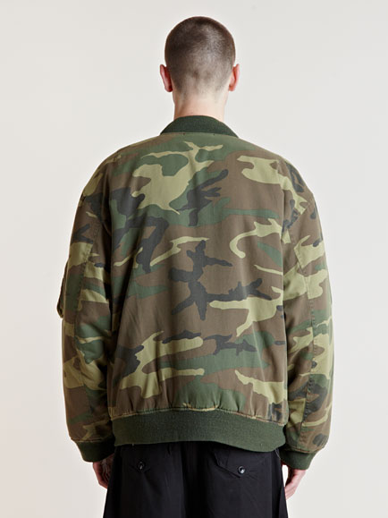 Lyst Raf Simons Aw01 Camouflage Bomber Jacket In Green