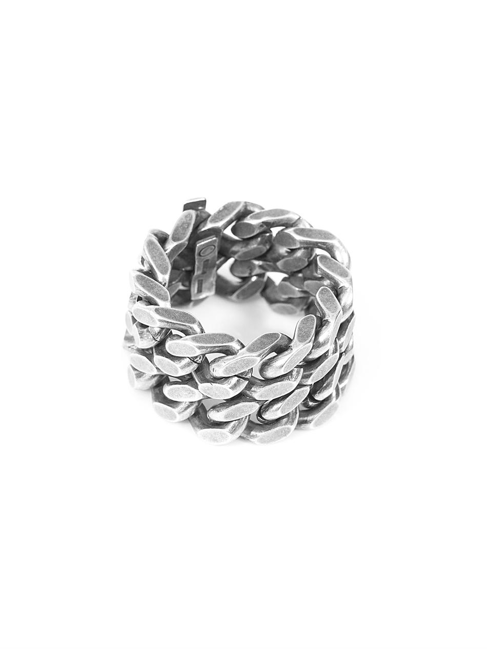 Lyst Saint Laurent Silver Chain Ring In Metallic For Men