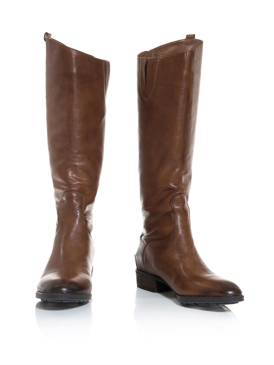 sam edelman knee high boots in brown lyst