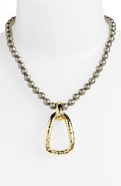 simon sebbag faceted necklace with hammered pendant