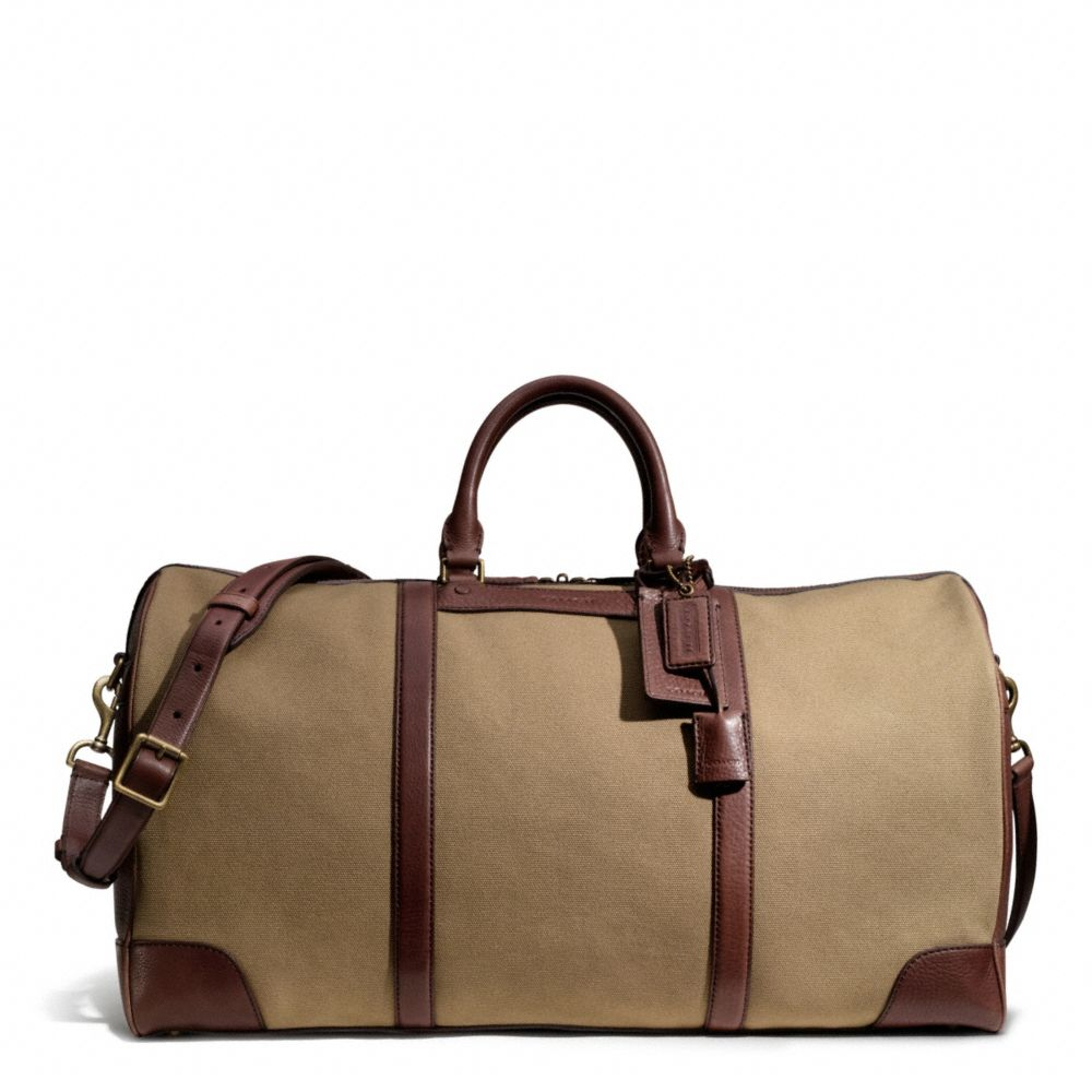 ... black 49973 456c7 purchase lyst coach bleecker cabin bag in canvas in  brown for men f5ff5 871a6 ... a897129830350