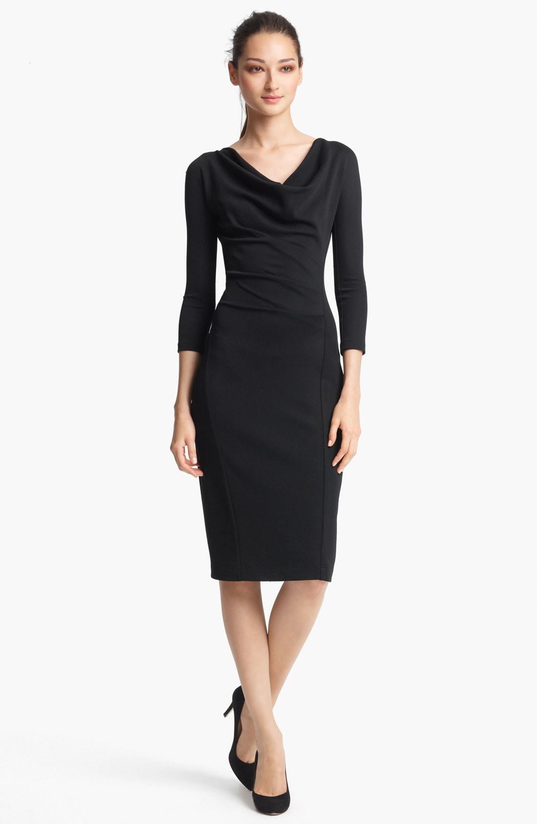 Donna karan new york collection crepe jersey dress in for Donna karen new york