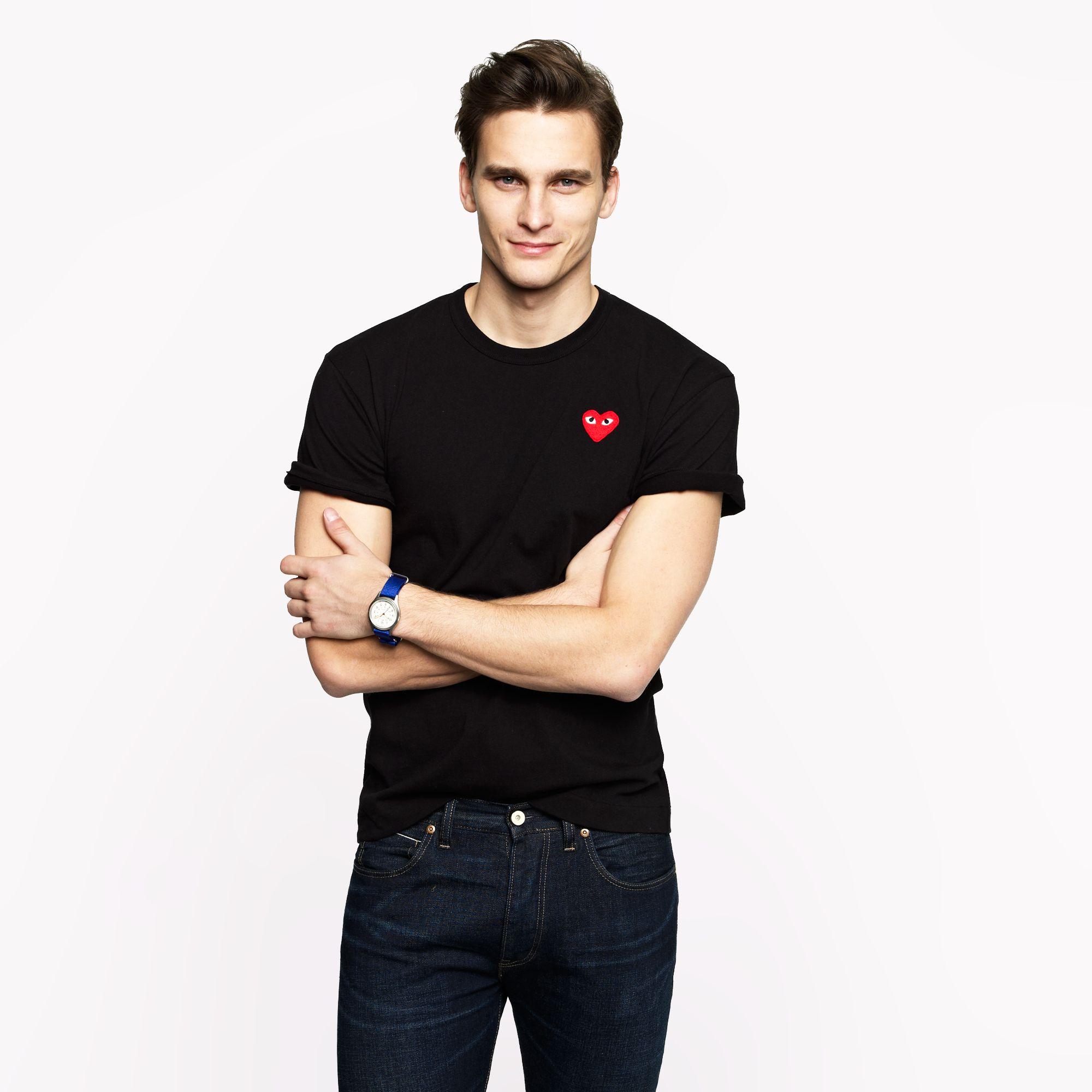 Comme Des Gar Ons Play Comme Des Gar Ons T Shirt In Black