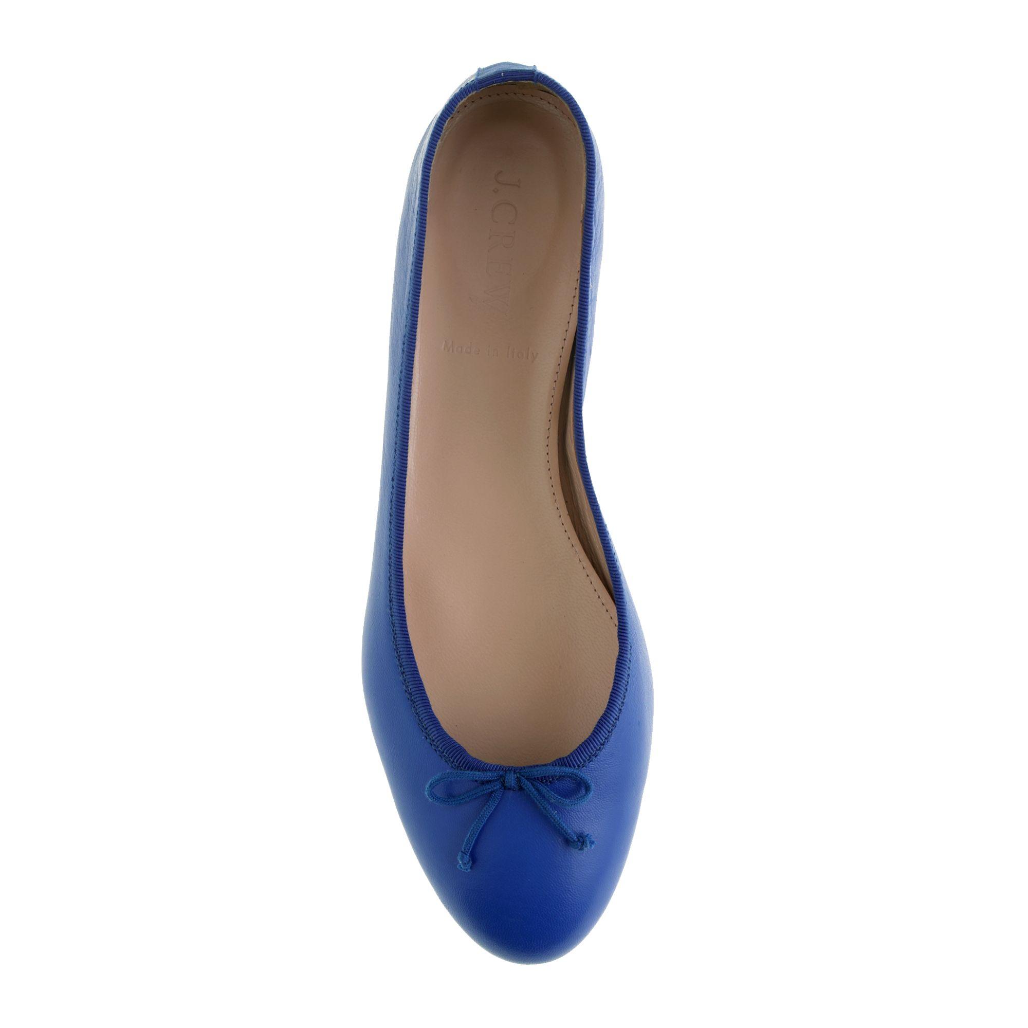 J.crew Kiki Ballet Flats in Blue