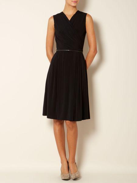 max mara studio vicino vneck shift dress in black lyst. Black Bedroom Furniture Sets. Home Design Ideas