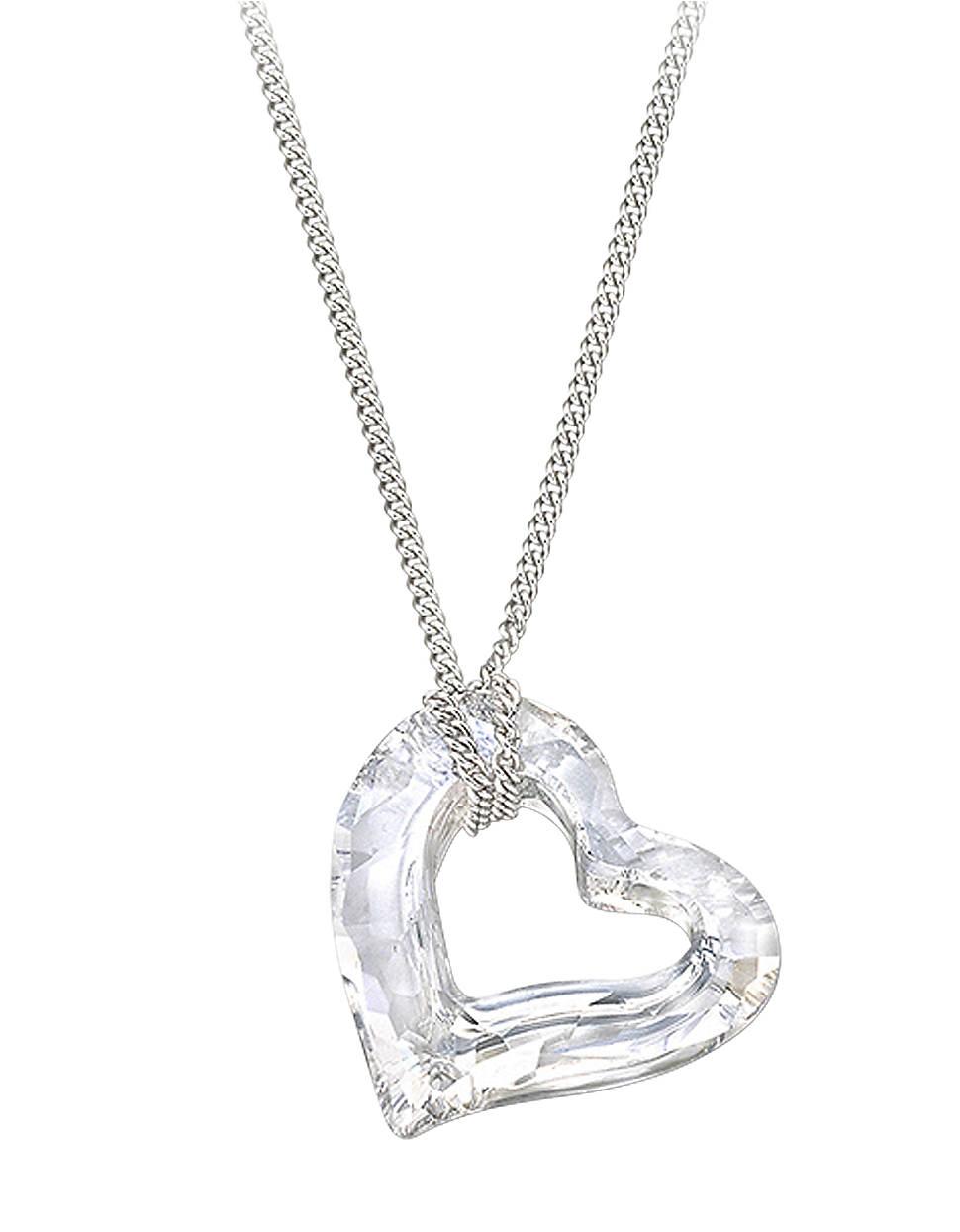 swarovski mini crystal love heart pendant in silver multi. Black Bedroom Furniture Sets. Home Design Ideas