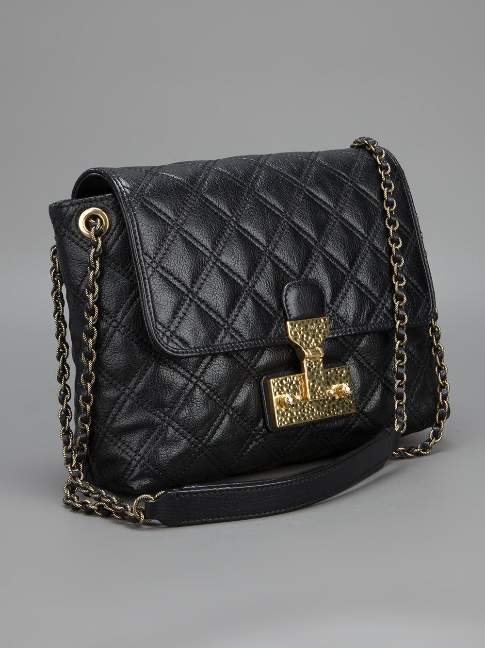 36f4cc1cc9a9 Lyst - Marc Jacobs Quilted Shoulder Bag in Black