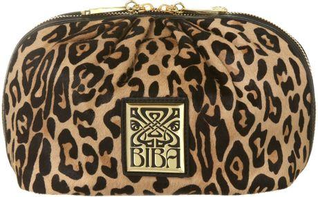 Biba Cosmetic Bag in Animal (Brown)