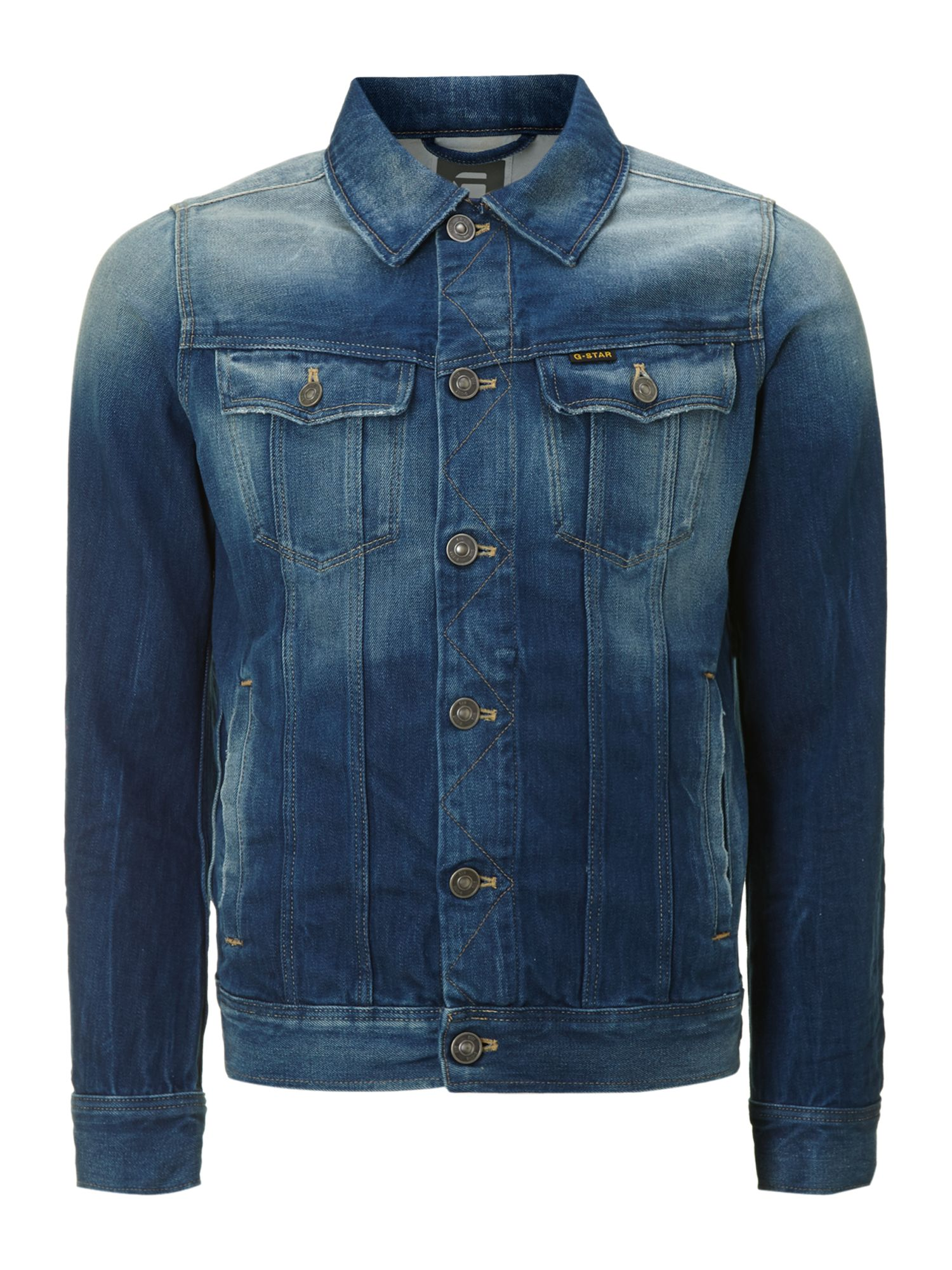 g star raw denim jacket in blue for men lyst. Black Bedroom Furniture Sets. Home Design Ideas