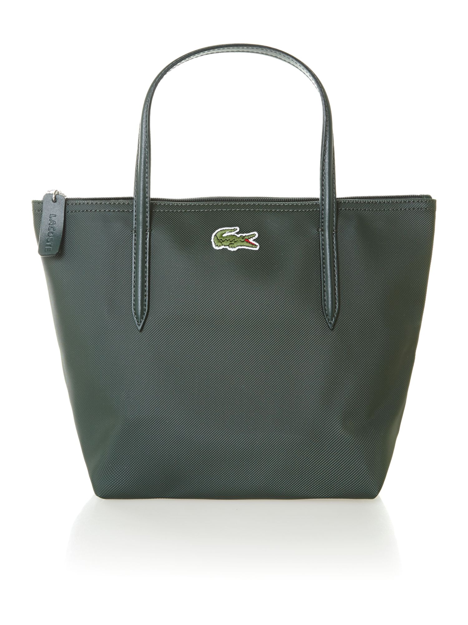 lacoste green small tote bag in green lyst