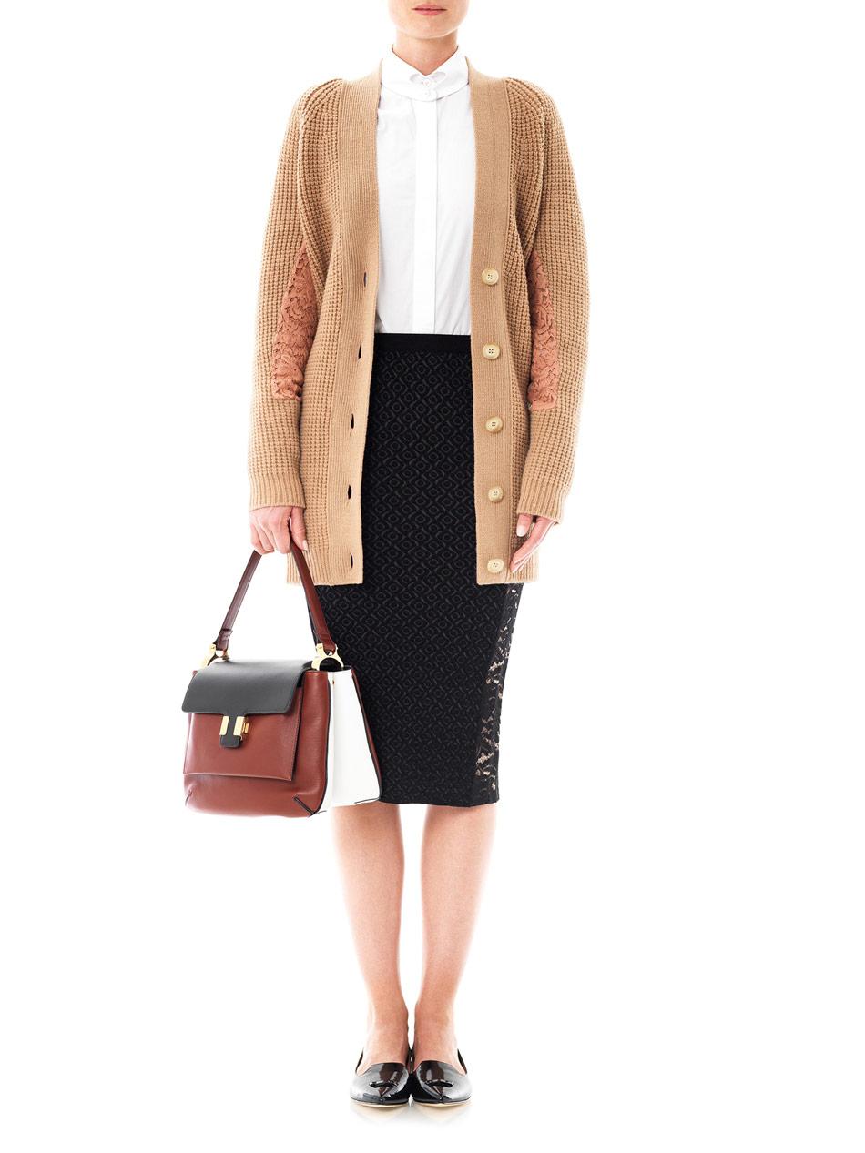 Brown V Neck Sweater