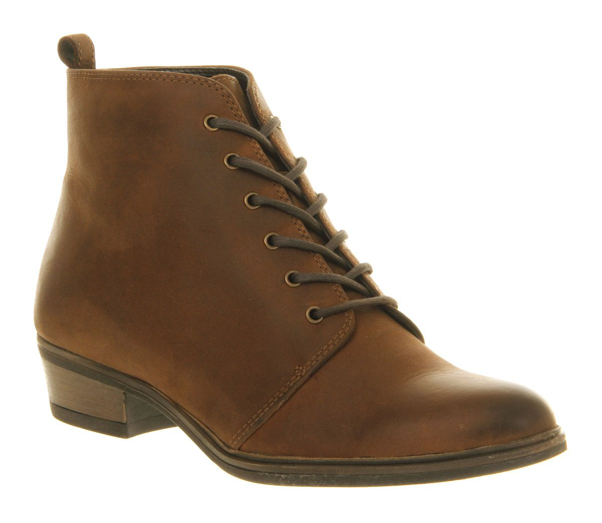 office blast lace up boots in brown lyst