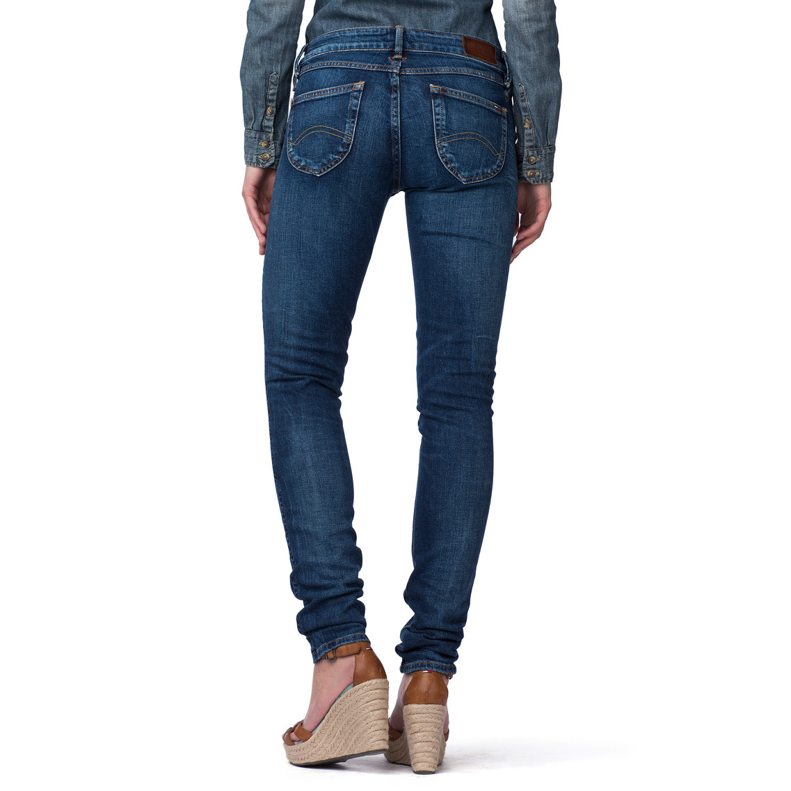 tommy hilfiger sophie skinny leg jeans in blue la mid. Black Bedroom Furniture Sets. Home Design Ideas