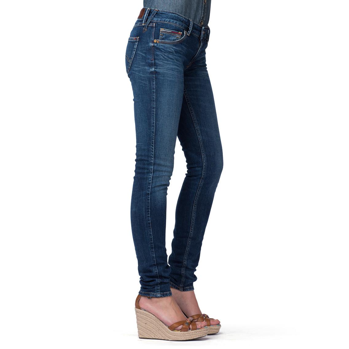 tommy hilfiger blue sophie skinny leg jeans lyst. Black Bedroom Furniture Sets. Home Design Ideas