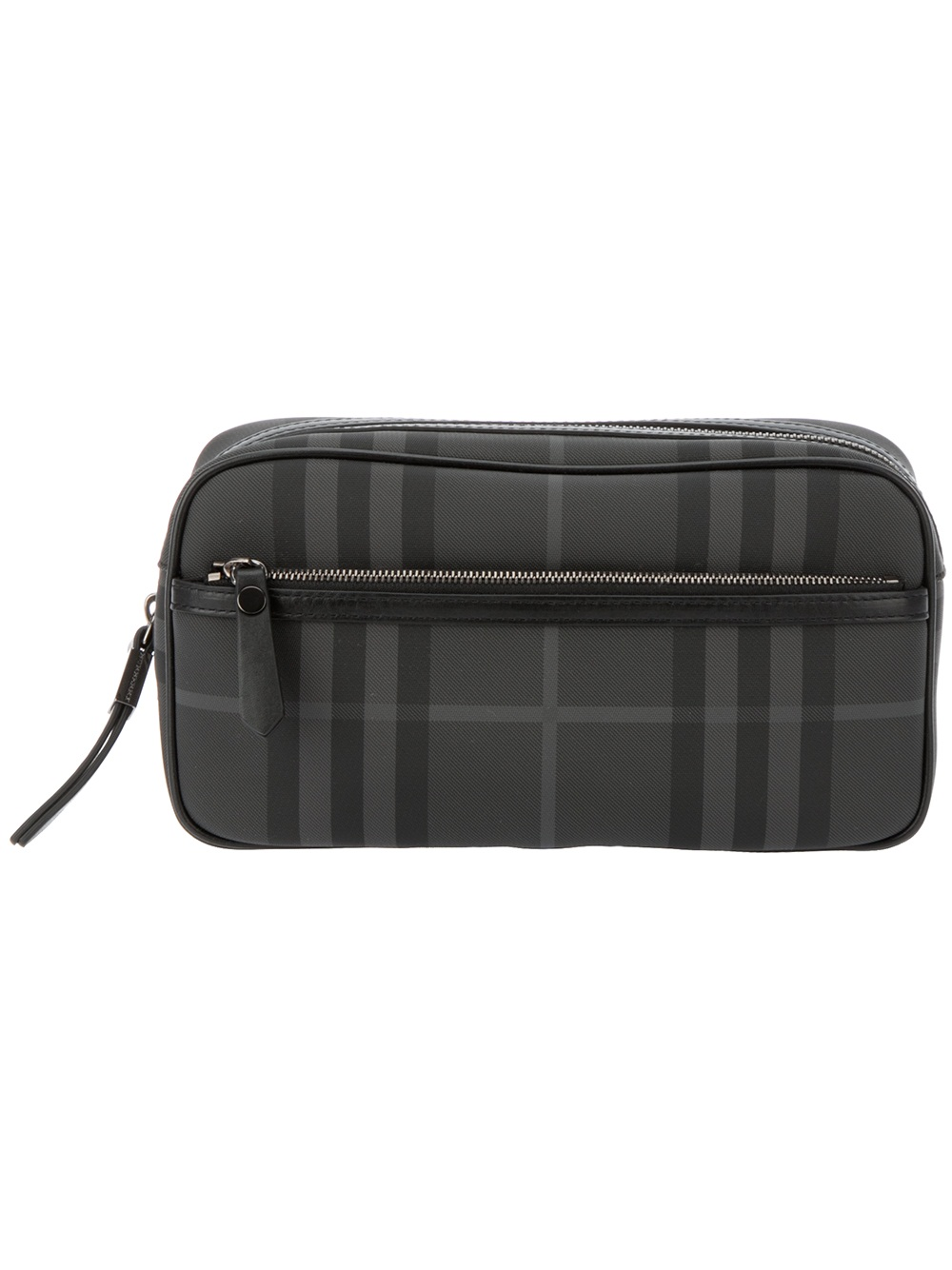 13438a2715f6 Burberry Brit Checked Wash Bag in Gray for Men - Lyst