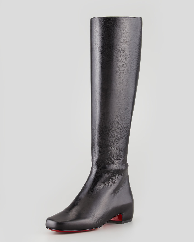 louboutin boots nero