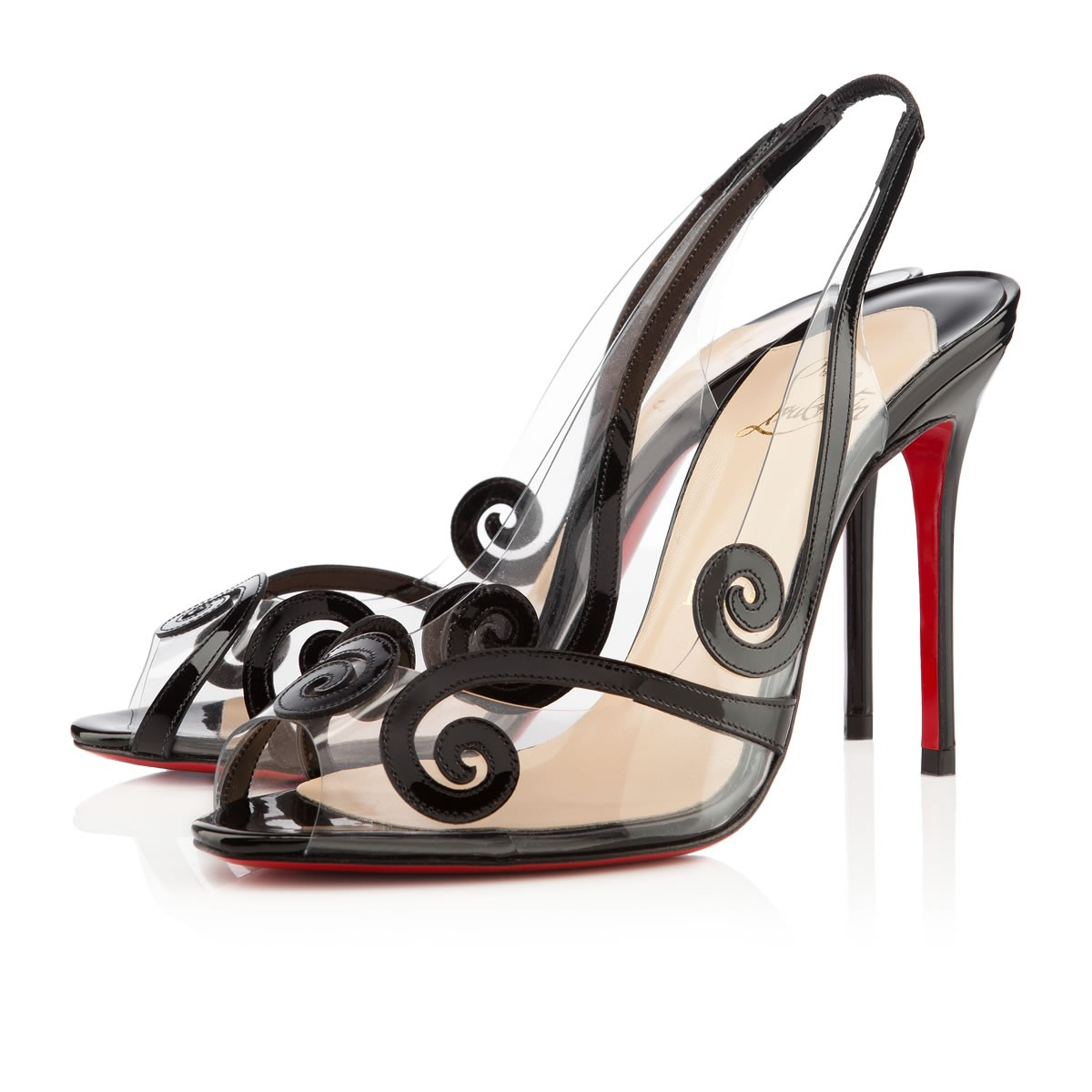 Artesur ? christian louboutin patent leather Au Hameau slingback pumps