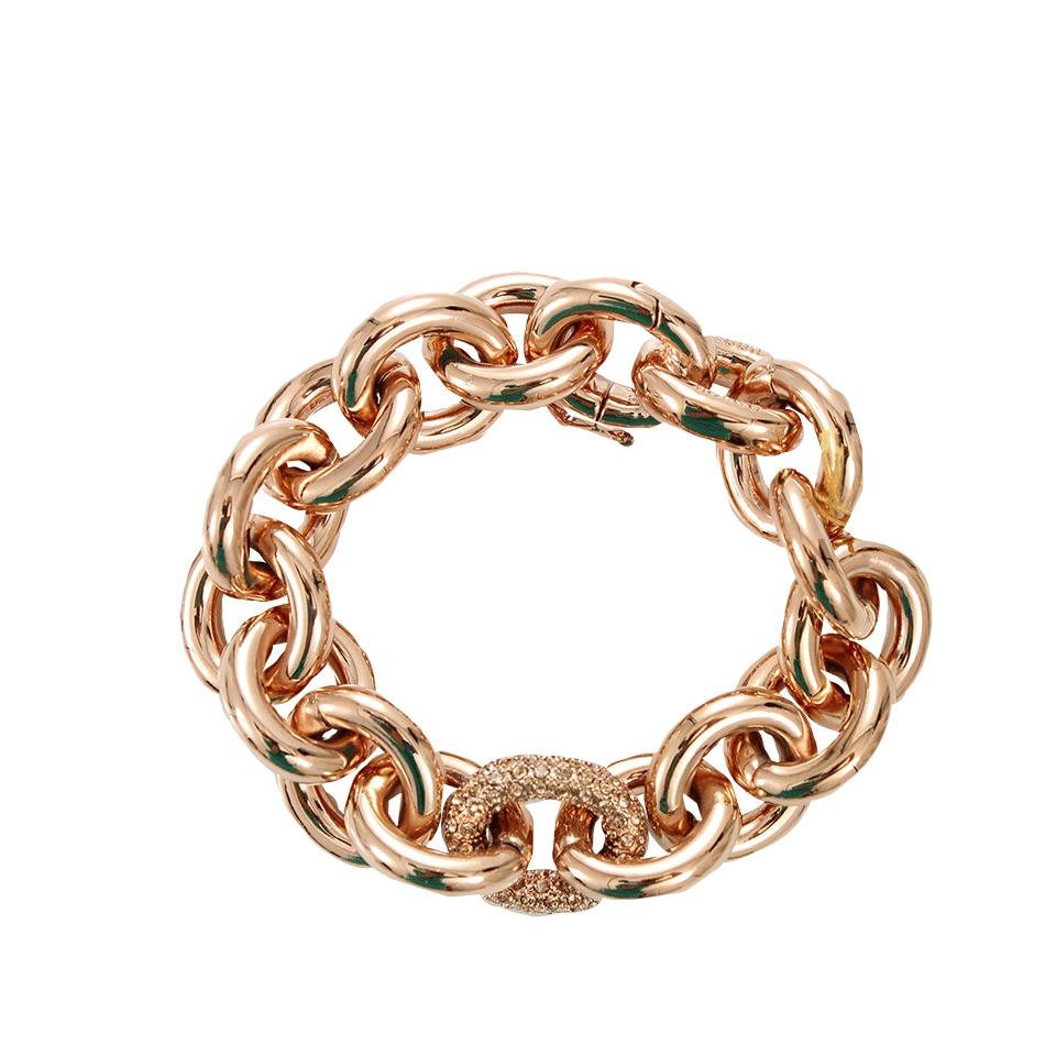 eddie borgo pave link chain bracelet in gold rosegold lyst