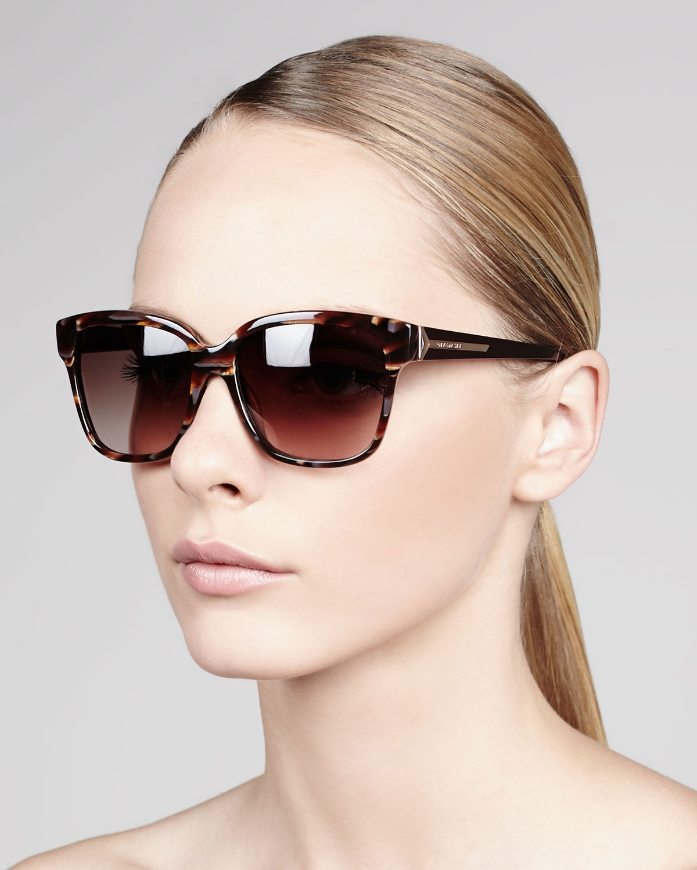 73d9d64e09b Lyst - Givenchy Square Tortoise Sunglasses in Purple