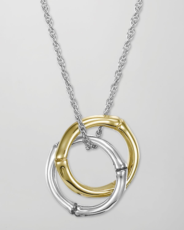 John Hardy Bamboo Interlinking Pendant Necklace In
