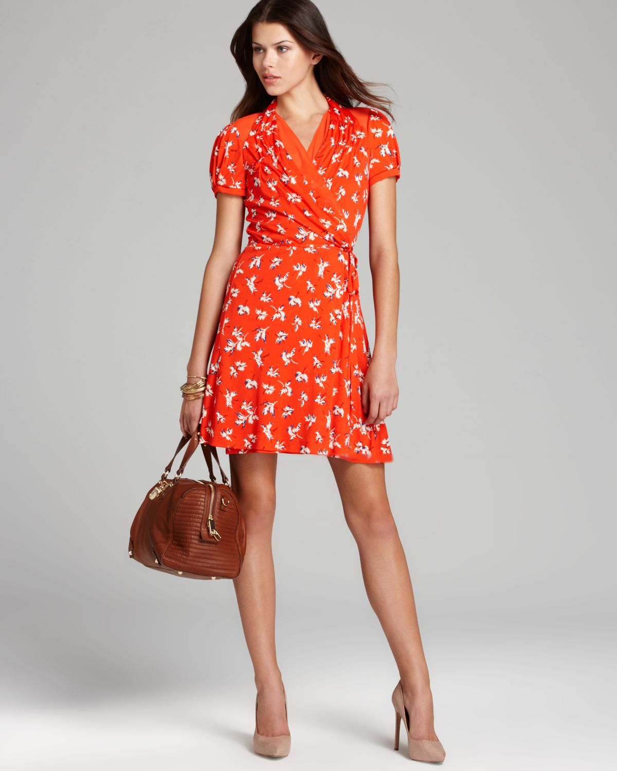 a2461cb52e Juicy Couture Dress Feathered Iris in Orange - Lyst