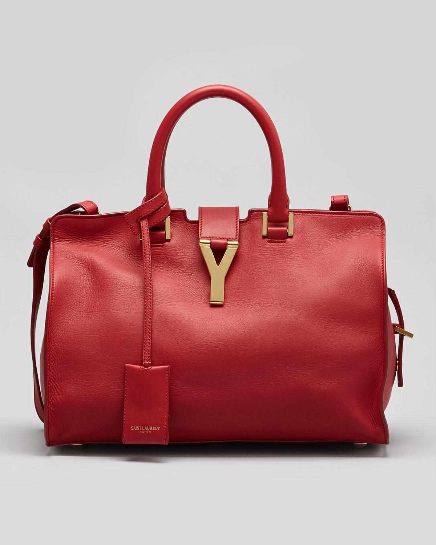 yves st laurent purses - y ligne soft leather bag, red