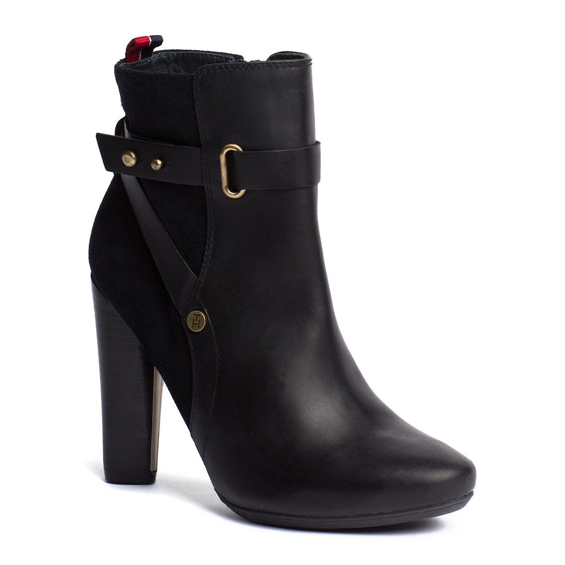 tommy hilfiger hailey ankle boots in black lyst. Black Bedroom Furniture Sets. Home Design Ideas