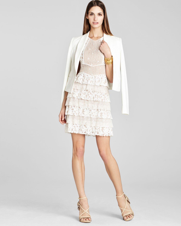 c091a16fdfd BCBGMAXAZRIA Dress Kayla Lace Tiered in White - Lyst