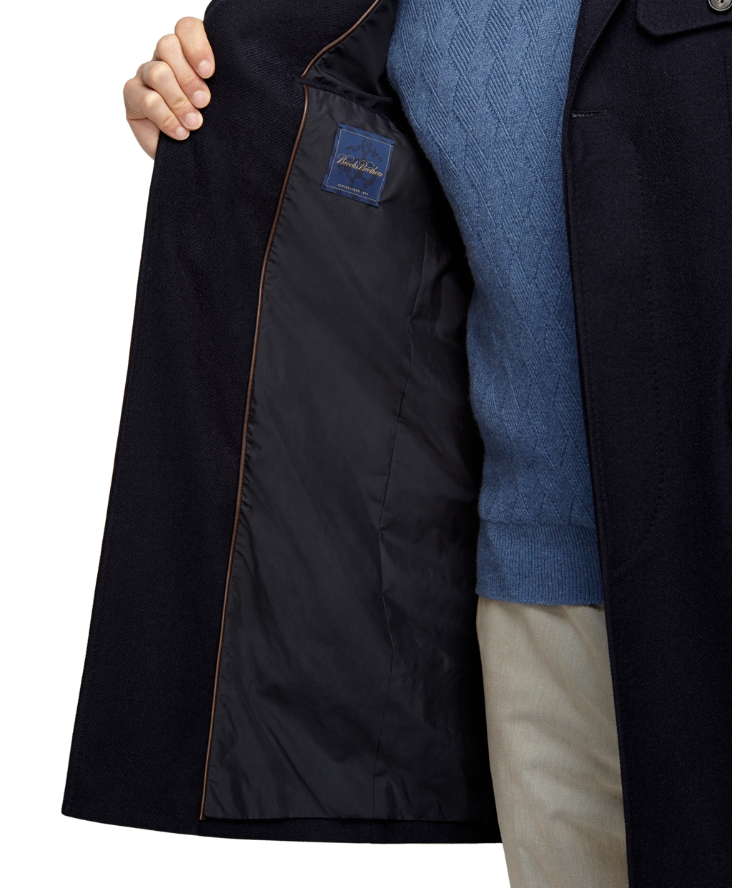 Brooks brothers Cashmere And Wool Car Coat in Blue for Men | Lyst