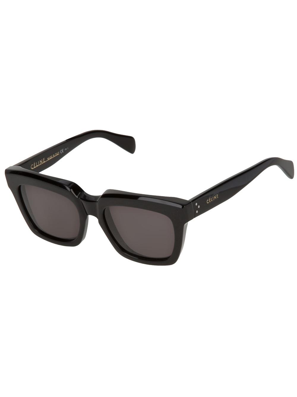 1ae666c7208 Lyst - Céline Square Sunglasses in Black