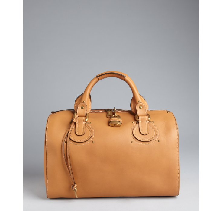 Chlo¨¦ Tan Leather Aurore Bowling Bag in Brown (tan) | Lyst