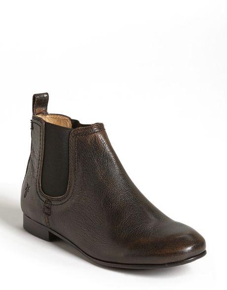 frye jillian chelsea boot in gray smoke lyst