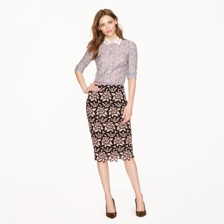 j crew collection no 2 pencil skirt in italian guipure