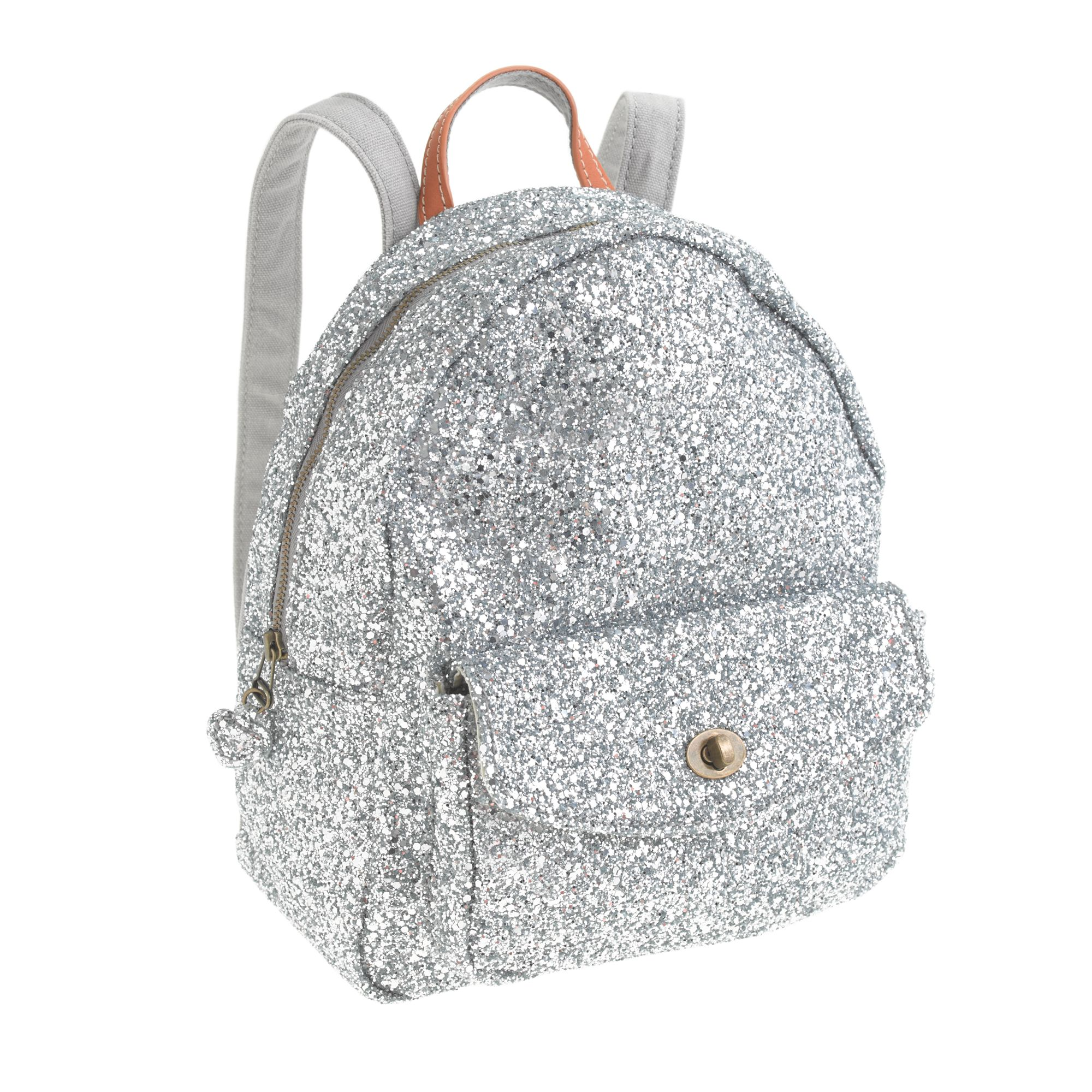 J.crew Girls Mini Glitter Backpack in Gray | Lyst