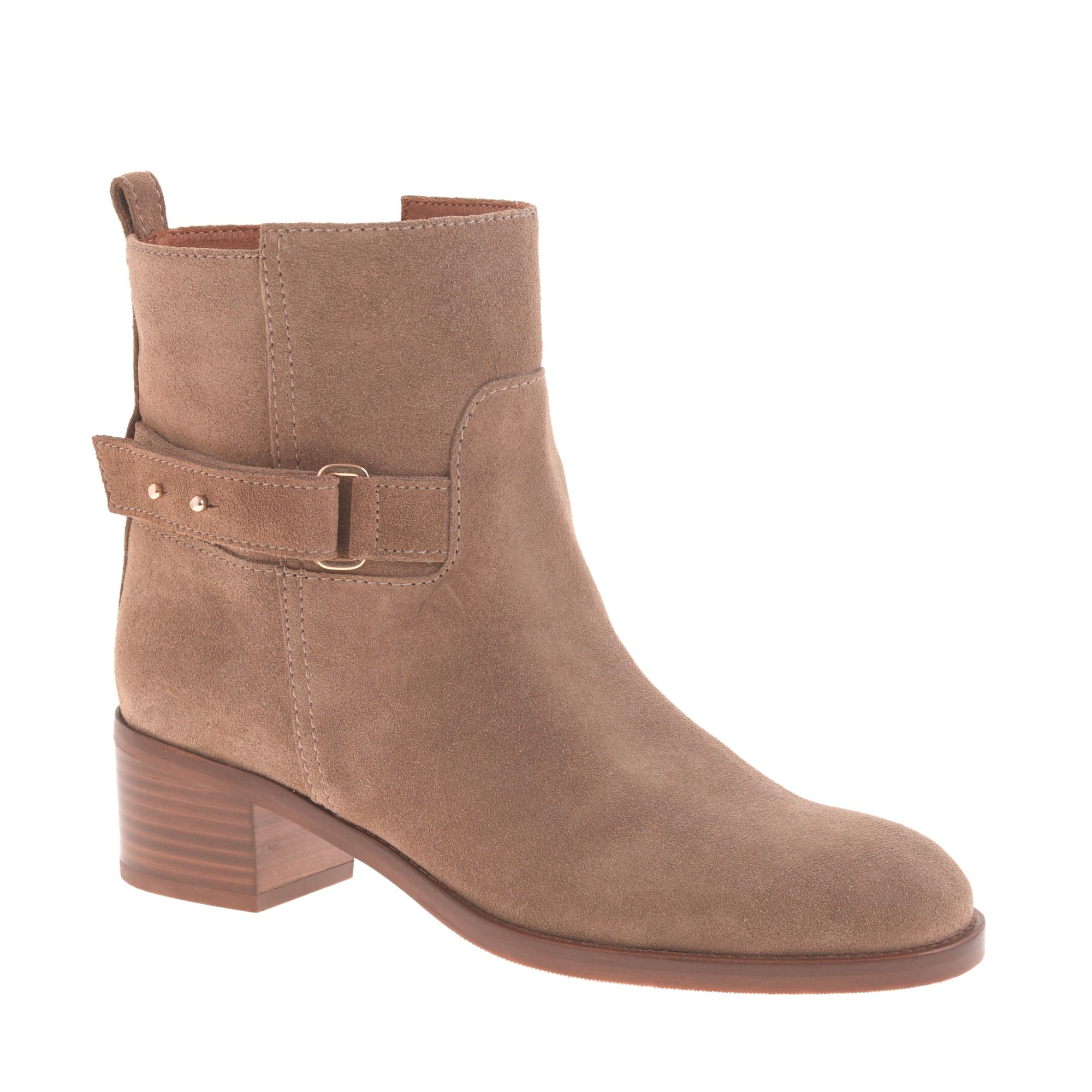 j crew suede ankle boots in brown weathered
