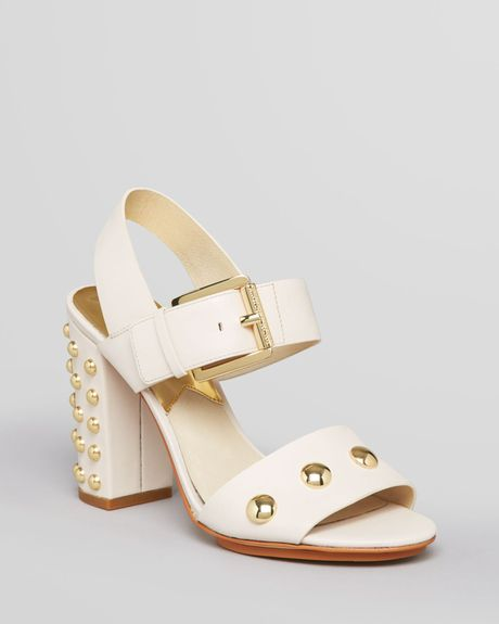 michael michael kors sandals linden studded chunky high